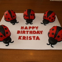 Lady Bug Cakes These cakes each serve 2-3 people, and are filled with a raspberry creme made from Cool Whip and Raspberry Jam (seedless). They are...