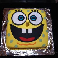 Spongebob Squarepants Got the idea from CC. I did the face by eyeballing it - but next time I'll get a cake size copy of his face and work with that. Used...