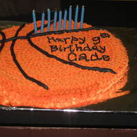 Basketball Cookie Cake with Buttercream