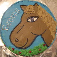 Horse all buttercream icing. Got the idea from another cc member but cannot recall which member-forgive me for not crediting.