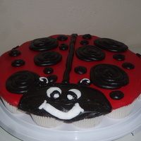 Ladybug Cupcake Cake Made this for a playgroup. Wanted to try something new. It was a hit.