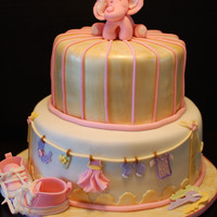Pink Elephant my friend sent me the picture of the cake she wanted,, I tried to put my own spin on it : )