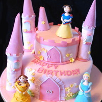 Princess Castle Cake A princess castle cake, all the figures are gumpaste :) thanks for looking