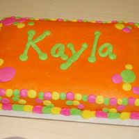 Neon Polka Dots This is a 1/4 sheet done in all buttercream. It was for a 13th birthday with an 80s theme. She didn't know anything about the 80s and...