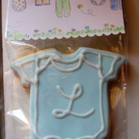 Baby Shower Favors Phew....this was my first time decorating cookies in any quantity (2nd time decorating them ever) what a lot of work! They are NFSC with...