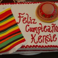 "Mexican Theme Birthday This cake was for my little cousin's 15th birthday. I have to thank ""grammasue"" for her help with the blanket (although her..."