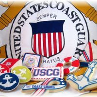 Coast Guard Day '09 Cookies sent to my Coast Guard son and his fellow Coasties to celebrate Coast Guard Day (August 4th) NFSC and Cinnamon Spice with MMF...