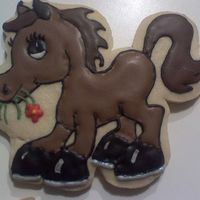 Horse For Emily My niece is coming tomorrow and she just got back from horse camp. So I thought a horse cookie would help ease the pain of leaving camp. I...