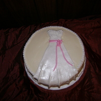 Wedding Dress Bridal Cake My future DIL didn't have a bridal shower. Her co-workers had a pot luck luncheon and I made a cake for her. I have been wanting to...