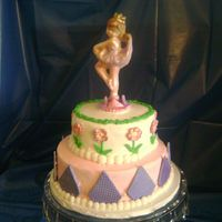 Ballerina_Cake2.jpg My granddaughter's 2nd ballet recital. I made her a cake last year and wanted to make her anohter one this year. Bottom tier was fudge...