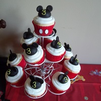 Mickey Cupcakes Mickey cupcakes for my godson's 3rd birthday party