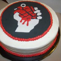 American Idiot Cake For a themed party that was American Idiot on Broadway. My friend did the cutouts. She's amazing!