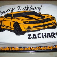 Bumblebee Cake Transformers Bumblebee cake. FBCT. All bc icing