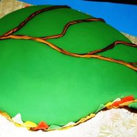 Leaf I used the medium paisley mold for this cake and carved it to get the leaf form. This is a simple chocolate cake, chocolate buttercream and...