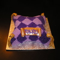 Pillow Cake   My first attempt at a pillow cake done with buttercream icing instead of fondant