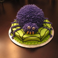 Spider Cake   Thanks to other Cake Central members who inspired this cake