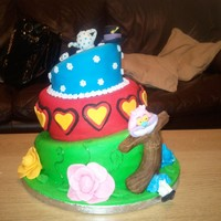Alice In Wonderland My daughters 10th birthday cake