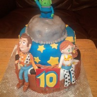 Woody And Jessie toy story cake in fondant