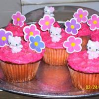 Hello Kitty Cupcakes! Just for fun cupcakes for my babies!