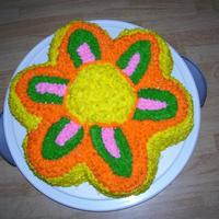 Dancing Daisy Cake! Made this cake just for practice, when first starting out.