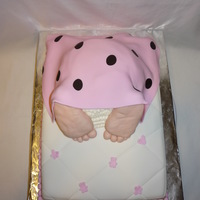 "Baby Butt With Mattress baby butt cake wasn't big enough so added a ""mattress"" under for extra servings. All edible"
