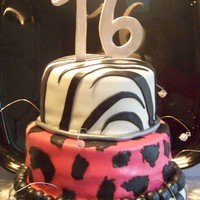 Sweet 16 fondant covered, gumpaste 16