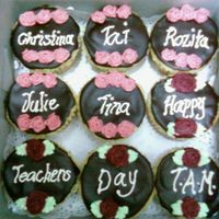 Teachers' Day Cupcakes Made these for my DD's teachers at her kindergarten, for Teachers' Day