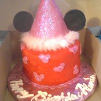 Picture Of My Niece's 6Th Birthday Cake Wow...I learned ALOT about Satin Ice this weekend...This cake was for my Niece's 6th birthday. She wanted to combine Minnie mouse...