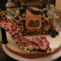 Mother's Day Leopard Print Purse Cake