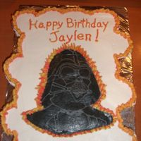 Darth Vader   This one was inspired by a number of cakes on here. Thanks to all!
