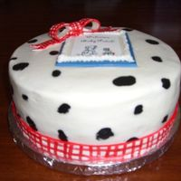 Dalmatian Baby Shower Cake (2-2)   Front view