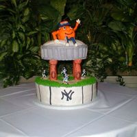 Su And Ny Yankees Groom's Cake The bride and groom have an inside joke - the only things they really have in common is SU Sports and NY Yankees. The top of the cake is a...