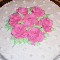 Course I Final Cake This was my first time making the roses! I thought they turned out ok!