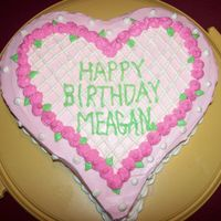 Heart Shaped Birthday Cake