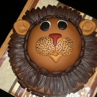 Cute 2 Layer Lion Cake