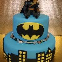 Batman Batman cake, the other side is the bat cave.
