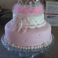 Butterfly Princess Cake   This was a birthday cake for a 5 year old girl who loves butterflies and princesses.