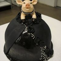 Biker Ballgown Piggy I had to design a cake for our local county Fair using the theme, Hogs gone Wild.