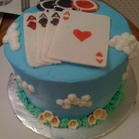 Poker Cake was for my dad who loves to play poker. Cards/chips are made out of gumpaste.