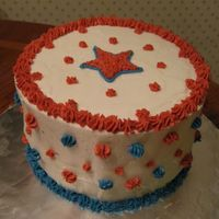 Fourth Of July Chocolate with buttercream.