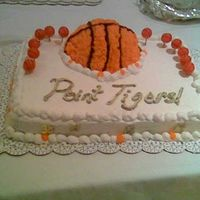 Point Tigers! Sheet cake for the LSU Men's Basketball team
