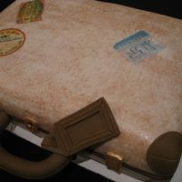 Suitcase Cake Dominican cake with dulce de leche filling.