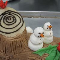 Yule Log   Yule log cake covered in coffee buttercream.