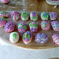 Mini Easter Cakes Because I have been so inspired by all of the wonderful cake decorators....my daughter and I gave decorating the mini cakes a try. We had a...