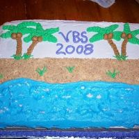 Beach Cake Cake I made for Vacation Bible School