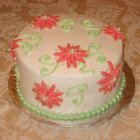 Easter Cake Buttercream with fondant accents