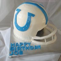 Colts Helmet I forgot about this cake until 5 hours before it was due. Oops.