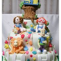 """diante Do Trono"" Cake A cake based on a Brazilian christian cartoon called ""Diante do Trono"" where all the characters are toys. Everything on the cake..."