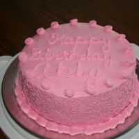 Abby Friends daughter wanted an all pink chocolate cake. It's filled with choc. bc.