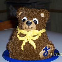 Smash Cake Bear smash cake that coordinated with Future Domer cake.